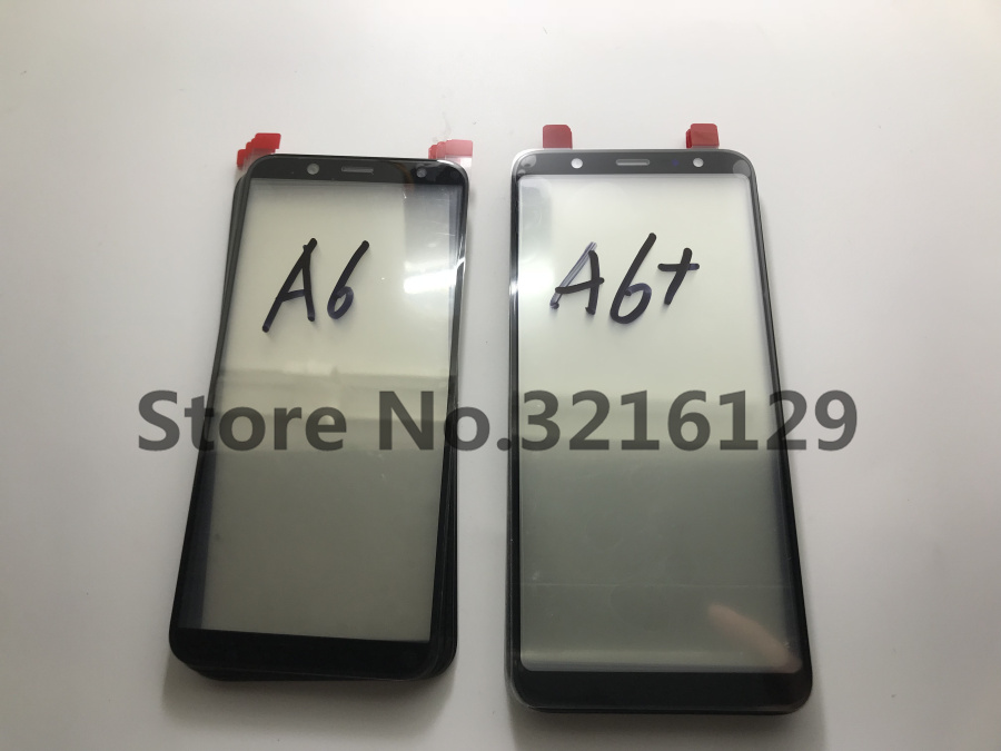 10pcs Original High Quality LCD Front Touch Screen Glass Outer Lens For Samsung Galaxy A6 2018 A600 SM A600F A6 A605 A605F in Phone Screen Protectors from Cellphones Telecommunications