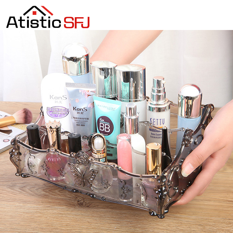 Atistic SFJ 8 Colors Makeup Organizer Storage Box Acrylic Make Up Organizer Makeup Storage Drawers Organizer Bathroom Shelf