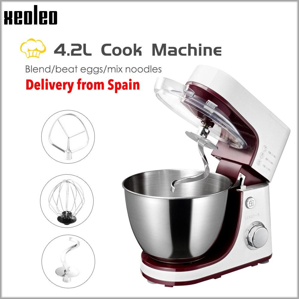 XEOLEO 4.2L batedeira batedeira 800 W Branco Chef casa máquina de Cozimento máquina de amassar A Massa da máquina Ovo batedor de Massa de pão mixe