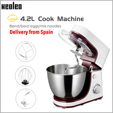 XEOLEO Planetary Food Mixer Electric Dough mixer Cake mixer Dough kneading machine White Househol Chef machine Egg beater 4.2L dough mixer household automatic multi function electric dough mixer mixing machine