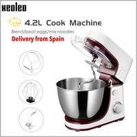 XEOLEO Planetary Food Mixer Electric Dough mixer4.2L Cake mixer Dough kneading machine White Househol Chef machine Egg beater