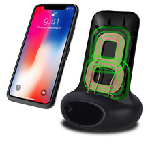 10W Wireless Charger Phone Stand For iPhone Xs Huawei LG Vertical Induction Qi Wireless Charger Phone Holder Fast Charging