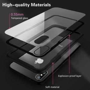 Image 2 - Gehärtetem Glas Fall Für iPhone 12 12Pro 11 Pro X XR XS Max SE2 Hohe Qualität Klar Weichen Silikon Glas abdeckung Für iPhone 7 8 Plus