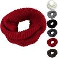 Nova Moda Dos Homens Das Mulheres de Conforto Infinito Quente 2 Círculo Cable Knit Cowl Neck Scarf Shawl