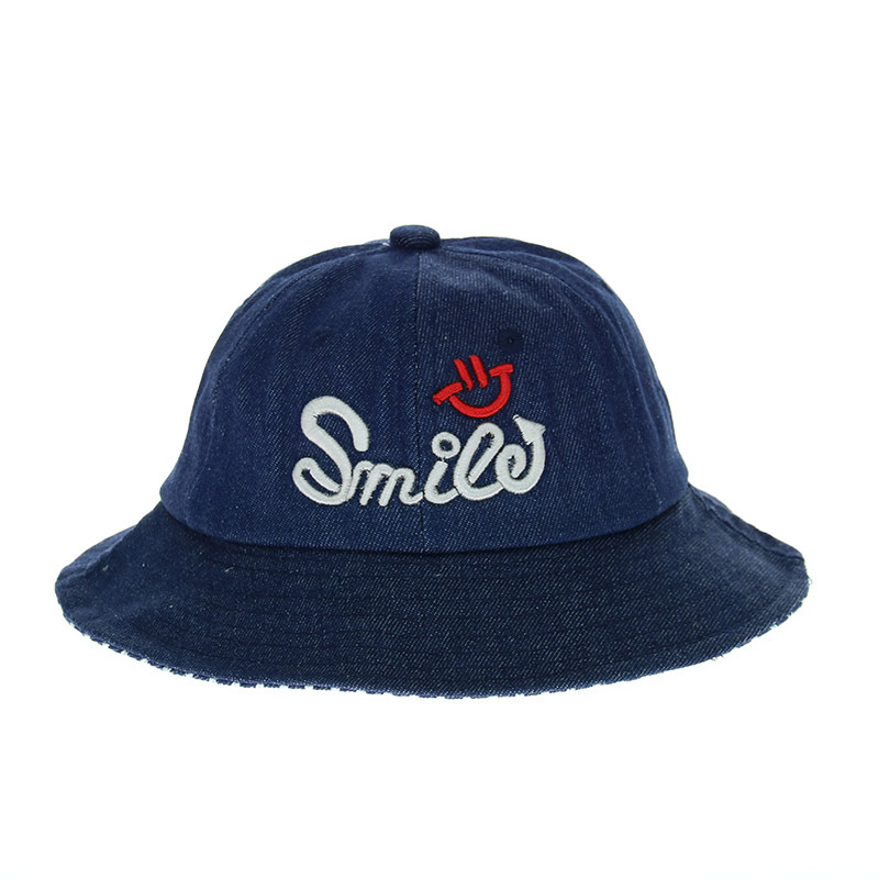 Baby Toddler Bucket Sun Protection Smile Hat, Sun Protective Wide Brim Denims Bucket Hat, Floppy Hat Baby Sun Blocking Hats