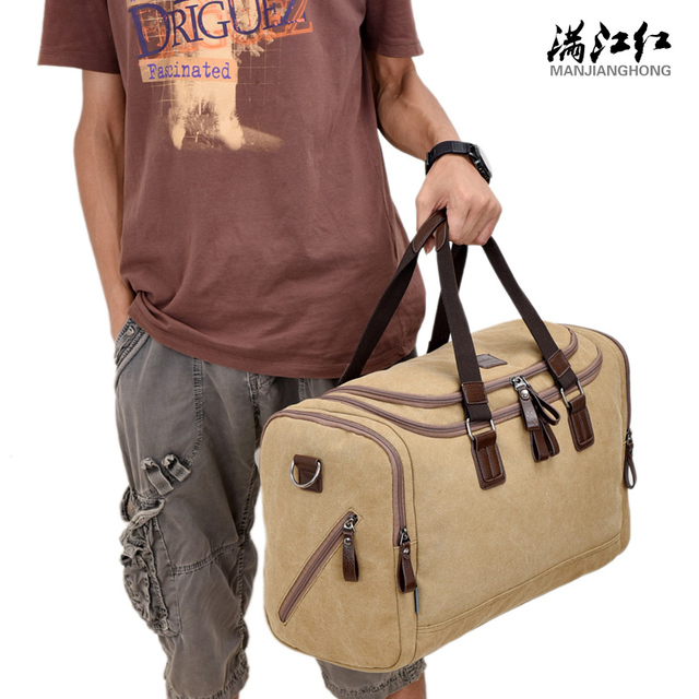 New Large Travel Handbag Recreation  Men Large Capacity Duffel Bags  High Quality Shoulder Bags Vintage Canvas Bags