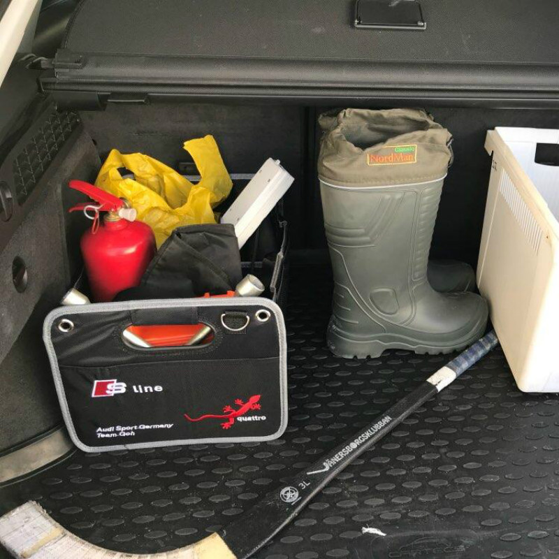 Car trunk storage box For Audi A3 A4 B6 B8 B7 A6 C5 C6 Q5 A5 Q7 Q3 TT R8 A8 A7 S Line For Mini Cooper R36 R56 R57 Accessories