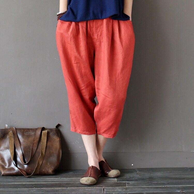 2017 Summer Style Women pants capris woman candy color loose capris harem pants cotton capris for women Pantalon Femme Trousers