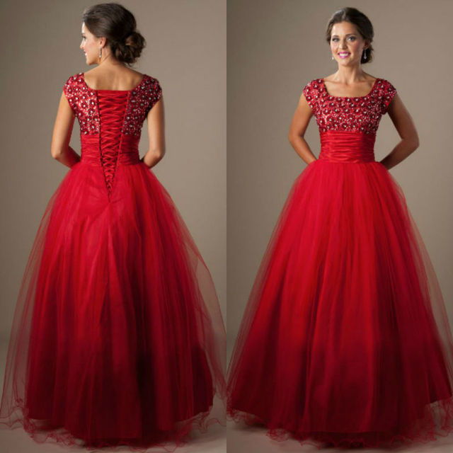 Cute Long Red Prom Dresses