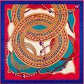 Cadenas de Metal de Moda Femme Círculos Patrón Bufanda de Seda de la Tela Cruzada Pura Cuadrado 100 cm Fulares Mantón de Pashmina Bufandas Jacquard Suave