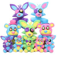 5pcs/set Game Five Nights At Freddy Plush Toys 15/25cm Blacklight Freddy Bear Neon Foxy FNAF Plush Toy Stuffed Doll Kids Gift