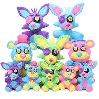 5pcs/set Game Five Nights At Freddy Plush Toys 15/25cm Blacklight Freddy Bear Neon Foxy FNAF Plush Toy Stuffed Doll Kids Gift