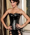 Gothic Black Faux Leather Corset