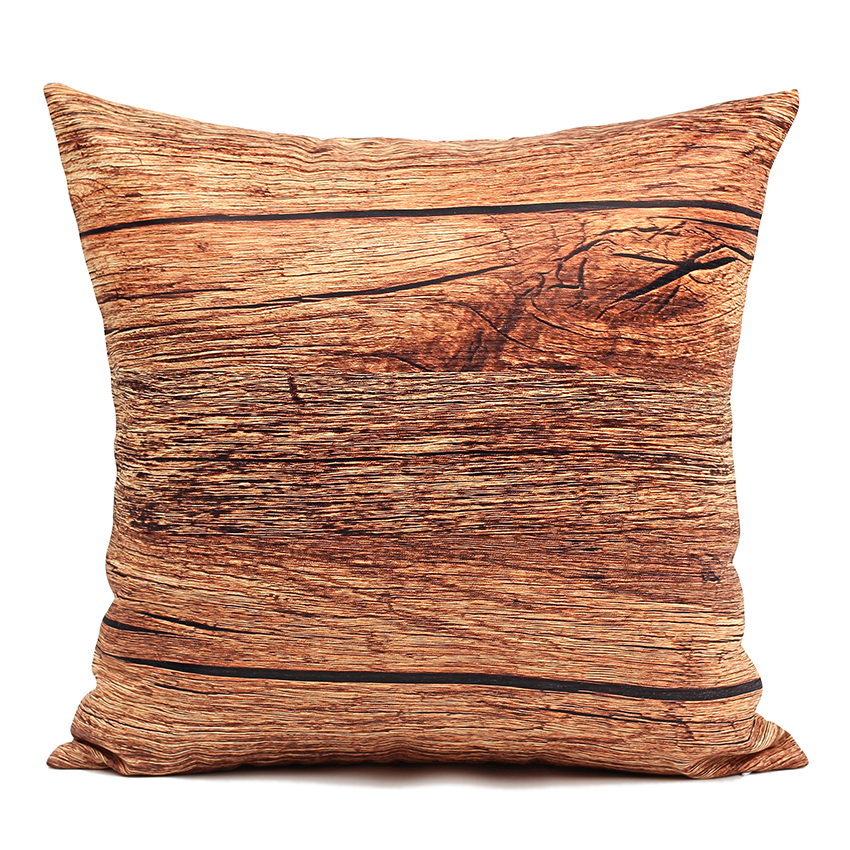 high quality 40 45 50cm sofa cushion cover brown plank pillow covers outdoor cushion covers sofa