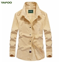 TAPOO Shirts Mens PoloShirts Males Cotton Business Shirts Camisa Leisure Spring Brand Clothing Long Sleeve