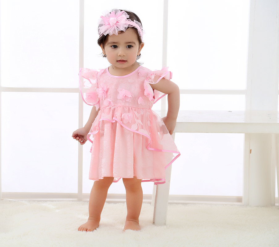 2017 New Born Baby Girl Dress Fashion Baby Rompers For girls Summer Kids Infant Clothes Princess Baby Girls Jumpsuit baby clothing summer infant newborn baby romper short sleeve girl boys jumpsuit new born baby clothes