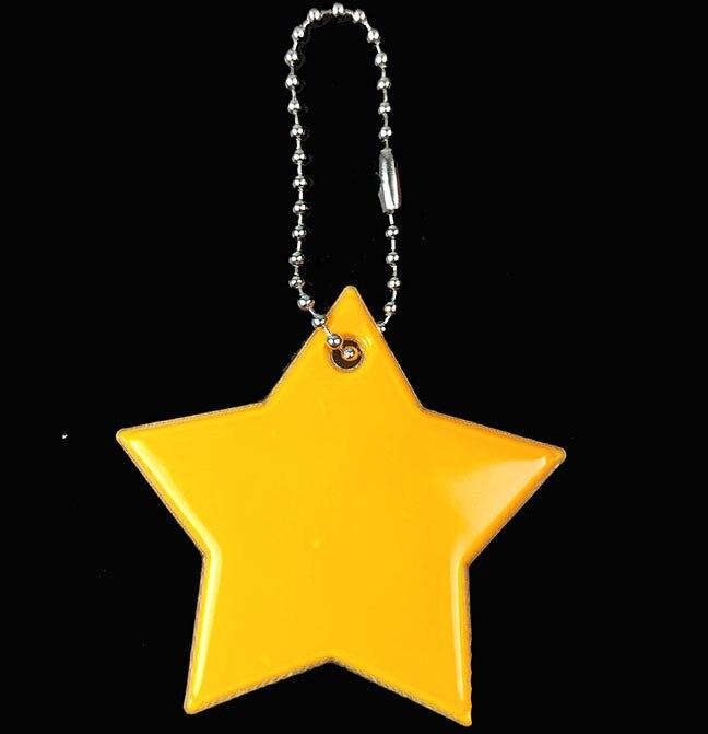 Маленькая звезда сумка брелок милый мягкий ПВХ отражающий брелок, подвеска для машины Шарм сумка Аксессуары для безопасности дорожного движения использования - Название цвета: orange yellow