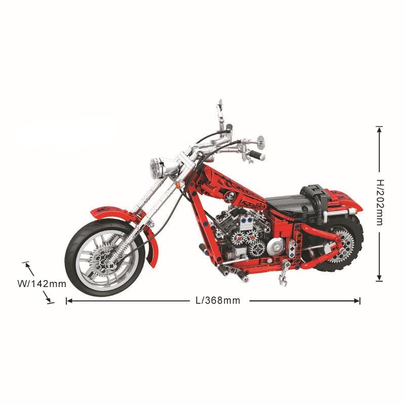 568 unids Diy Technic Series Cruising Motorcycle Building Blocks - Juguetes de construcción - foto 6