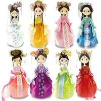 Slime Clay Colorful Fluffy Foam Clay DIY Chinese Style Doll With Dress Toys For Children New Arrival Craft 8 sets Slime Supplies