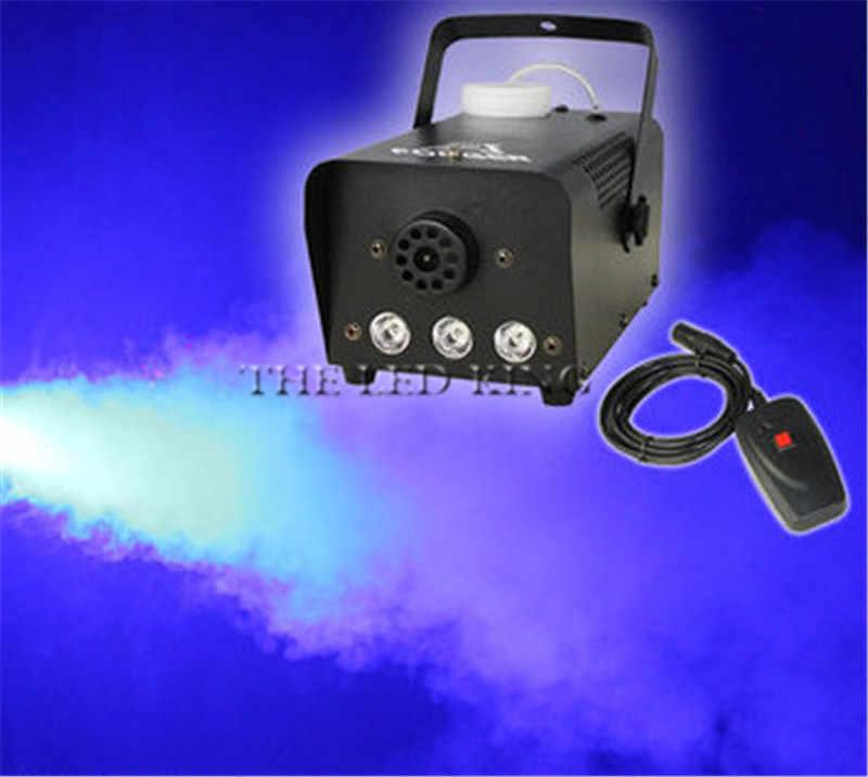 Mini 1000W LED RGB control remoto inalámbrico máquina de niebla bomba dj disco máquina de humo para fiesta boda Navidad etapa LED nebulizador