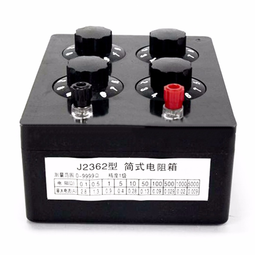 NEW Precision Plastic Variable Decade Resistance Resistor Box 0-9999ohm For Physical Electricity Teaching Instrument new customized green fixed type pipe resistance 400w 33 ohm ceramic tube resistor