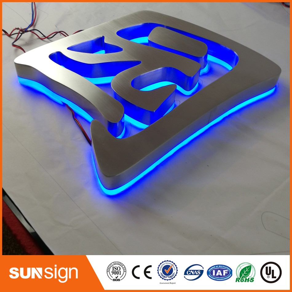 Factory Outlet Outdoor Stainless Steel LED 3d Letter Sign Logo, Stainless Steel Acrylic Lighting Up 3d Led Letter Sign