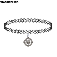 XIAOJINGLING Gothic Croatia Handmade Necklaces Vintage Tattoo Choker Necklace Metal Wheel Necklaces & Pendants For Women Lovers'(China)