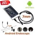 7mm USB Endoscópio Endoscópio Câmera USB OTG Android 5 M 3.5 M 2 M 1 M IP67 À Prova D' Água SnakeTube inspeção Endoscópio Câmera Android
