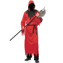 Umorden Mens Red Faceless Ghoul Costumes Horror Death Demon Devil Robe Costume Halloween Purim Carnival Party Cosplay