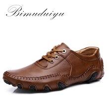 BIMUDUIYU Pulpo de Moda Casual Hombres Zapatos de Conducción Zapatos Hombre de Cuero Otoño/invierno Cómodas Bajas Transpirable Zapatos Ligeros