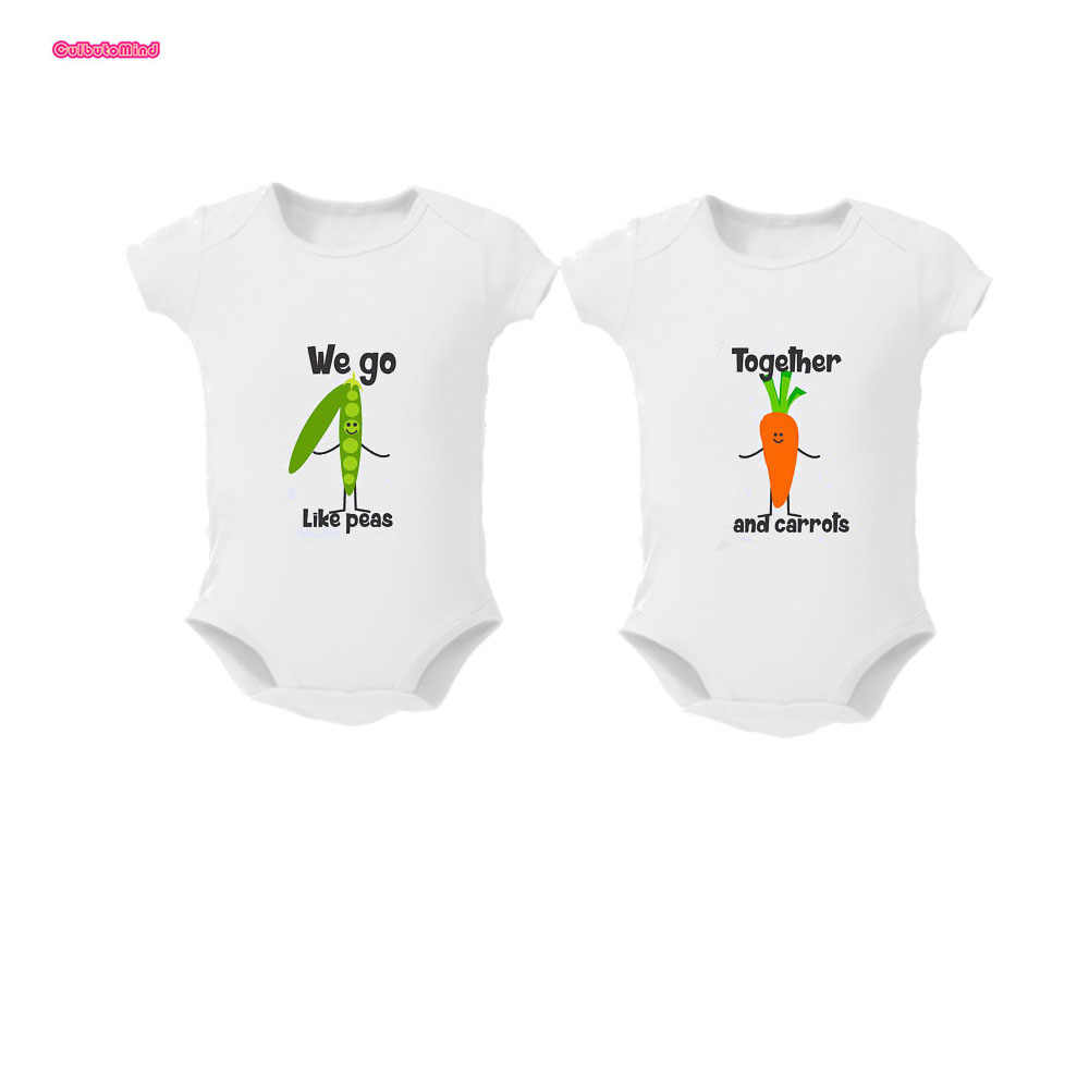 4a28b31ca2b8 2Pcs Baby Girls boys Clothing Bodysuit Cotton Summer Short Sleeves Sunsuit  Twins Baby clothes Mac and