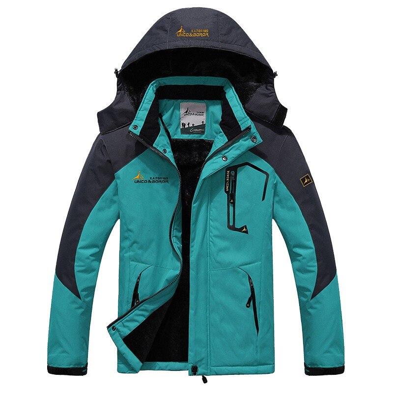 Jaqueta de esqui dos homens impermeável velo