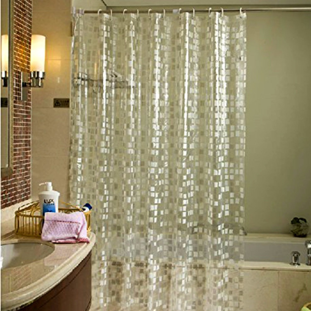 Us 11 83 26 Off 180x180cm Waterproof Mildewproof Semi Transpa Peva Shower Curtains With Stylish Modern Mosaics Pattern Curtain Liner In