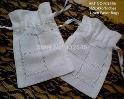 240 Pz/lotto Moda Sacchetti di Favore 4 X6 Ideale per Wonmen Fazzoletto di lino Bianco Regali Borse Possono Collezione Bella matrimonio Fazzoletti