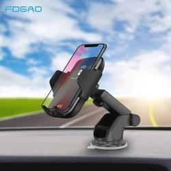FDGAO Qi Car Wireless Charger <font><b>For</b></font> iPhone X 8 Xs Max Xr <font><b>Samsung</b></font> S8 S9 Automatic Infrared Sensor 10W Fast Wireless Charging <font><b>Holder</b></font>