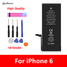 QrxPower High Quality Replacement Li-ion Battery Real Capacity 1810 With Tools for iphone 6 0 Cycle 1 year warranty цена