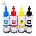 Hisaint high quality dye ink T6641 -T6644 cartridge refill ink 70ml bulk ink for epson l355 Ink Tank System Inkjet Printer