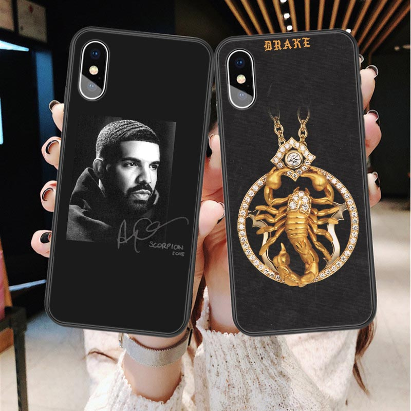 Rap Singer Drake Scorpion God's Plan Soft silicone TPU Back Cover Phone Cases For iPhone X SE 5 5s 6 6s Plus 7 8 Plus XS Max XR image