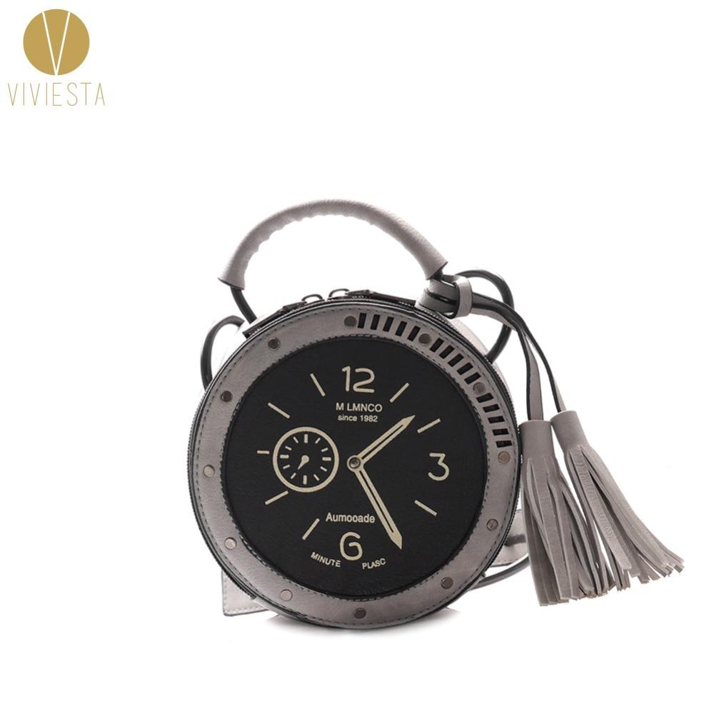 עגול שעון שעון חדש שקית ACROSS נשים בנות - תיקי יד