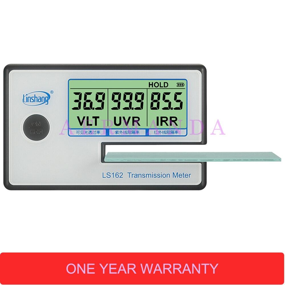 Compteur de Transmission de Film solaire, compteur de teinte de fenêtre LS162, testeur de verre filmé, compteur de transmittance VLT, compteur de rejet IR UV