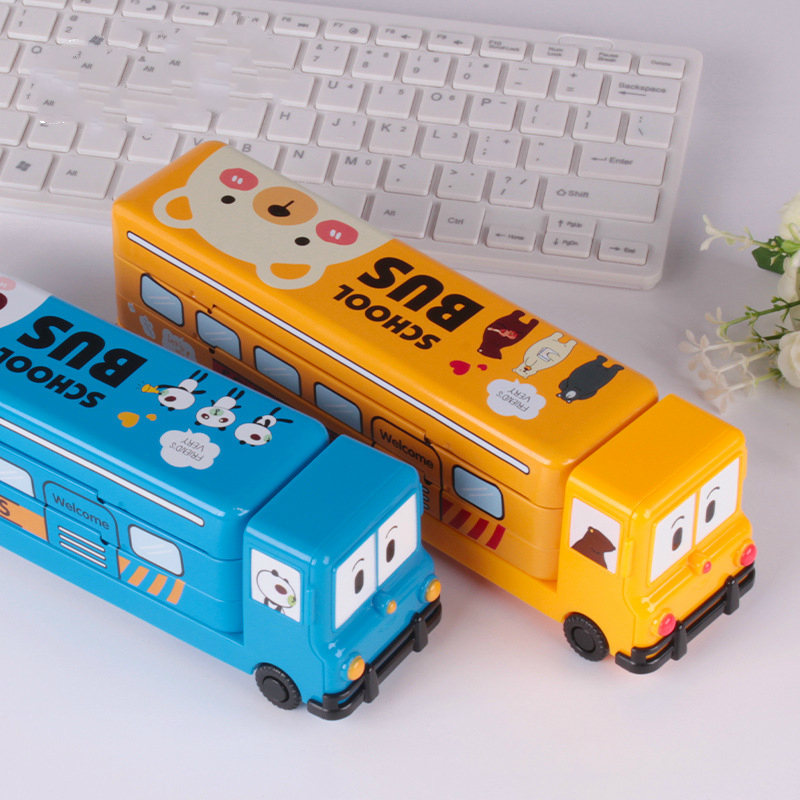 New Creative Multi-layer Car Stationery Box Children Pencil Box Kindergarten Low Grade Metal Pencil Case for Prize and Gift m&g stationery set primary school pupil intelligence box multifunctional kindergarten teaching aid prize