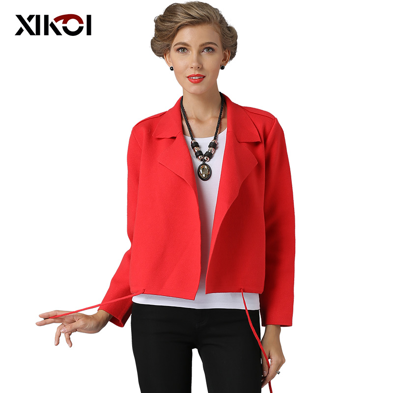 XIKOI Women Cardigans Casual Open Stitch Knitting Sweater Cardigans Tassel Solid Cardigan Female Jacket Sweater Coat