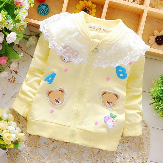 2016 New Spring Baby Boys&girls Avatar Cartoon Bear Cardigan Half Leather Pocket Zipper Cartoon Casual Cardigans Baby Boy Shirts
