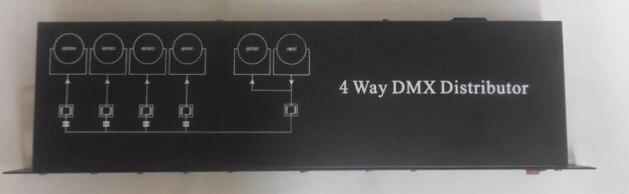 Pas cher prix 4 voies dmx signal distributeur dmx512 signal amplificateur séparateur scène lumière contrôleur pour tête mobile dj eqipment