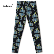 Hot Sexy sale new arrival Novelty 3D printed fashion Women leggings space leggins tie dye fitness pant free shipping of Elephant tie dye printed short sports leggings