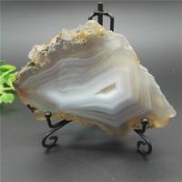 Large NATURAL Agate Hole Slice Polishe Crystal Quartz Display Polished Reiki Healing Fengshui Decorations