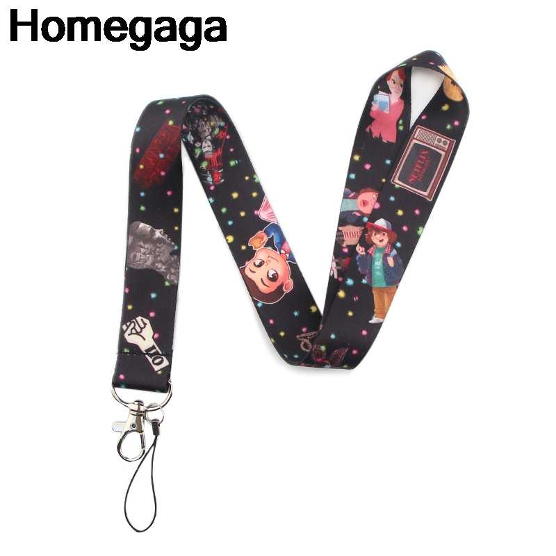 Homegaga Stranger things keychains Accessories Safety Breakaway For Mobile Phone USB ID Badge Holder Key Strap Tag lanyard D2256