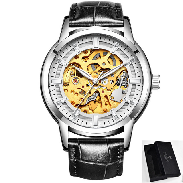 2018 WISHDOIT Gold Luxury Brand Mechanical Watches