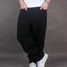 Весенние мужские Свободные мешковатые джинсовые штаны для скейтборда, хип-хоп черные уличные спортивные штаны, свободные джинсы для бега для мальчика, рэппер 71805