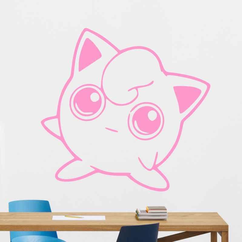 DCTAL Jigglypuff Pokemon Vinyl Applique Sticker Car Window Pokemon Go Game